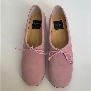 DKNY Pink Suede Heels
